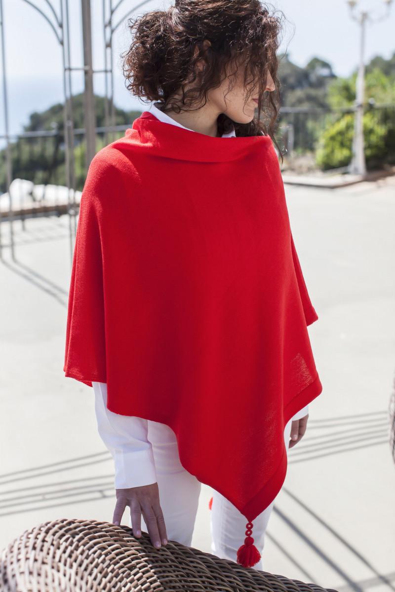 Poncho merino wool Large